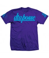 DTA Posse Script - Purple / Blue - Men's T-Shirt