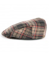 Brixton Hooligan - Black / Red Plaid - Men's Hat - Small