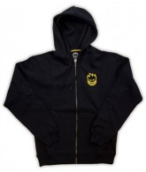Spitfire Standard Issue Zip - Black/Gold - Men's Sweatshirt