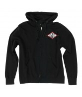 Independent Diamond Re-work Hooded Zip L/S - Black - Men's Sweatshirt