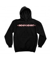 Independent Bar/Cross Pullover Hooded L/S - Black - Men's Sweatshirt