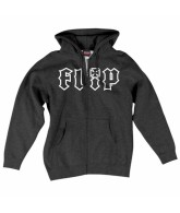 Flip HKD OUTLINE Hooded Zip L/S - Charcoal Heather - Men's Sweatshirt