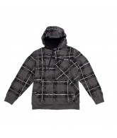 Volcom Collage Plaid Sherpa - Dark Grey - Men's Sweatshirt - Medium