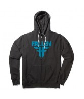 Fallen Insignia - Men's Sweatshirt - Black / Cyan
