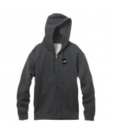 Cliche Circle Dot Fleece Zip - Charcoal/Heather - Sweatshirt