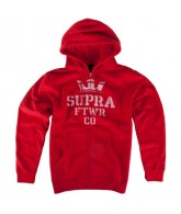 Supra Distorted Stack - Men's Sweatshirts - Red