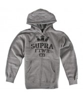 Supra Distorted Stack - Men's Sweatshirt - Gunmetal