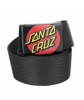 Santa Cruz Classic Dot Web Belt Black OS Mens - Belt