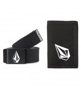 Volcom Webbing Belt/ Cloth Wallet - Black