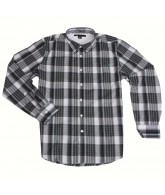 Volcom X Factor Plaid - Black - Men's Collared Shirt