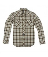 RVCA Out Of Bounds - Military Green - Men's Collared Shirt