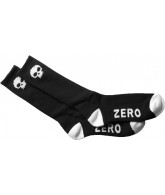 Zero Skull Knee Hi Socks - Black/White - Mens Socks
