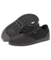 DVS Inmate - Black High Abrasion Leather - Skateboard Shoes