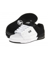 DVS Squadron - Black/White Leather - Skateboard Shoes