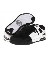 DVS Throttle - White/Black Nubuck - Skateboard Shoes
