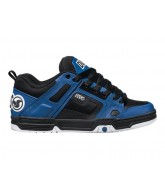DVS Comanche - Black/Blue Leather - Skateboard Shoes