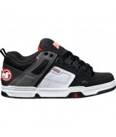 DVS Comanche - Black/White Nubuck - Skateboard Shoes