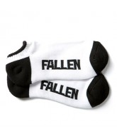 Fallen Lo Cut - Men's Socks - White/Black