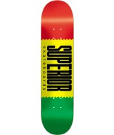 Superior Logo Wrap - Rasta - 7.75 - Skateboard Deck