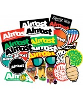Almost Bar Logo 25 Stickers - Stickers