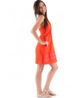 Roxy Stylin - Women's Dress - Hot Orange - X Large