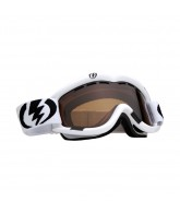 Electric EG1 2011 - Gloss White / Bronze Frame - Silver / Chrome Lens - Snowboard Goggles
