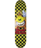 World Industries Checker Flameboy - Black/Yellow - 7.5 - Skateboard Deck
