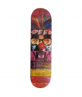 Speed Demons Face Smash Joker - Red/Purple - 8.1 - Skateboard Deck