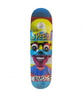 Speed Demons Face Smash Super Brother - Blue/Yellow - 7.9 - Skateboard Deck