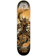 DarkStar Grind For Life R7 - Orange - 8.0 - Skateboard Deck