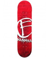 Foundation The Mark Fade PP - Red - 8.0 - Skateboard Deck