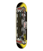 Santa Cruz Whaley Truckster Powerply - Black/Yellow - 31.9 x 8.2 - Skateboard Deck