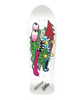 Santa Cruz Slasher White Reissue - White - 31.13 x 10.1 - Skateboard Deck