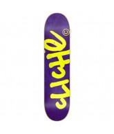 Cliche Handwritten R7 Purple/Fluorescent - Yellow - 8.0 - Skateboard Deck