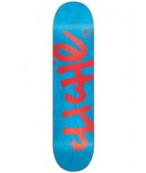Cliche Handwritten R7 - Flourescent Blue/Red - 7.5 - Skateboard Deck