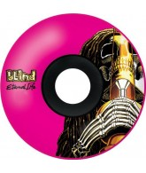 Blind Rasta Skull EL Wheel - Pink - 49mm - Skateboard Wheels