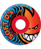 Spitfire Wheels Soft D's - 92 Duro - Rocket Red - 56mm - Skateboard Wheels