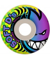 Spitfire Wheels Soft D's - 95 Duro - White - 54mm - Skateboard Wheels