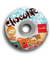Chocolate Pile Up 51mm - White - Skateboard Wheels