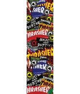 Mob Thrasher Sticker Collage Grip Tape 9in x 33in  - 1 Sheet - Skateboard Griptape