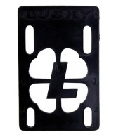 Lucky (Single Riser) - 1/8 inch - Black - Skateboard Riser