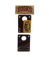 Shorty's Dooks Short Stacks, 1/4 in. - Skateboard Risers