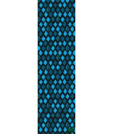 Krooked Grip Tape Diamond Blue 9in x 33in - Griptape