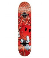 World Industries Rough Checker Devilman Mini - Red - 7.12 - Complete Skateboard