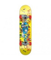 World Industries Slice N Dice Micro - Yellow - 6.5 - Complete Skateboard