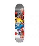 World Industries Flame Vs Willy Micro - Black/White - 6.75 - Complete Skateboard