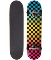 Speed Demons Fades Checks PP - Blue/Yellow/Pink - 7.6 - Complete Skateboard