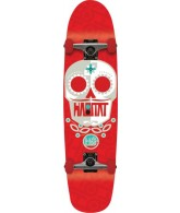Habitat Sugar Skull Small - Red - 7.75 - Complete Skateboard