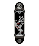 Santa Cruz Skate Screaming Hand Silver Mini Sk8 7.5 x 27.6 in Powerply - Complete Skateboard