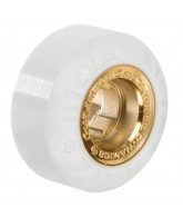 Ricta 51mm Lutzka Chrome Core White Gold Chrome 81b - Skateboard Wheels